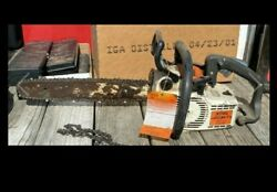 Stihl 011 Avt Chainsaw- Electronic Quikstop- Runs Well- Like Ms200t Ground Saw