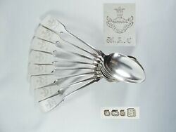Antique Victorian 1896 Set 8 Sterling Silver Tablespoons Edmond Johnson Spoons