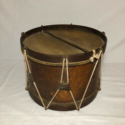 Authentic Antique Early Civil War Era Drum 11 X 16 Field Rope 1800and039s