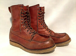 Vintage Red Wing Irish Setter Leather Boots Sz.11 Made In Usa Very Nice