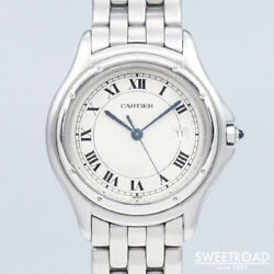 Ref.987904 Discontinued Panthere Cougar Quartz Mens Watch Auth Works