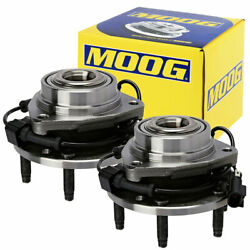 2pc Moog-513188 Front Wheel Bearing And Hub Assembly For 02-09 Chevy Trailblazer