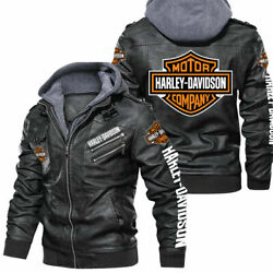 Harley-davidson - Fau.x Leather Jacket So Cool-so Unique For Gift