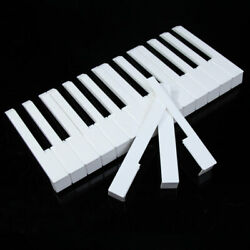 52pcs White Abs Plastic Piano Keytops Kit With Fronts Replacement Key Tops Us