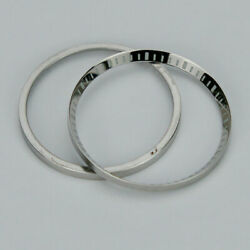 Silver Shiny Stainless Steel Chapter Ring For Seiko Skx007 009 W/ Index Q12