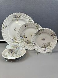 Haviland Limoges France Orsay Pattern 5 Piece Place Settings
