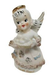 Vtg 50and039s Betsonand039s Napco Hand Painted April / Easter Angel Vgc Kistchy / Kitch