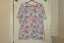 Alfred Dunner Plus Size 2x Top Classics 2021 Triangle Print New With Tags