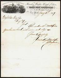 1859 American Bank Note Co Letter Head - Rawden Wright Hatch Edson - Fantastic