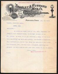 1901 Meriden Ct - Gas Electric Fixtures Bradley And Hubbard Mfg Co Bandh Letter Head