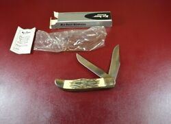 Vintage Unused Ka-bar Large Folding Knife 1184 2 Blades In Box And Papers Usa