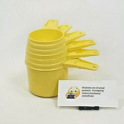 Vintage Set Of 6 Tupperware Stacking Measuring Cups Yellow