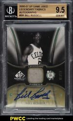 2006 Sp Game Used Legendary Fabrics Bill Russell Patch Auto /10 Bgs 9.5 Gem Mint