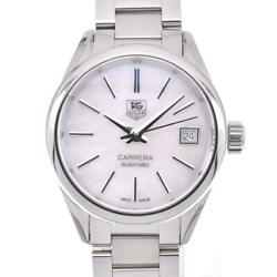 Tag Heuer Carrera War2411-2 White Shell Dial Automatic Ladies Watch P104380