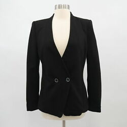 Ted Baker Rufia Blazer Jacket T2 Us 4/6 Black Double Button Stretch Career