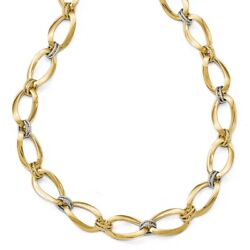 14k Two Tone Yellow Gold 1 Inch Extension Chain Necklace Pendant Charm Link