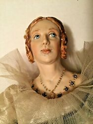 """Portrait Doll 15"""" Young Queen Victoria By Kathy Redmond Hand Molded Porcelain"""