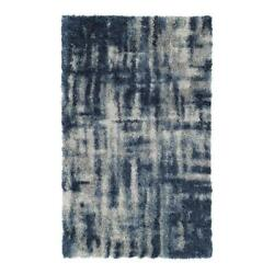 Addison Rugs Borealis 9and0396 X 13and0392 Crosshatch Shag Fabric Area Rug In Blue