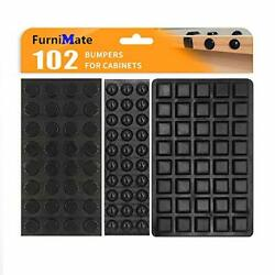 Black Bumpers Pads 102pcs Self Adhesive Rubber Feet Bumpers For Cabinets Draw...