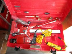 Hilti Dd-120 Core Drill W/ Stand, Case And W/lot New Bits Huge Kit Nice 1011