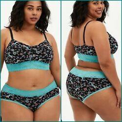 New 1x Torrid 2pc Mermaid Bralette And Panty Set 14/16 + Cacique Or Handm Gift