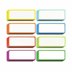 40 Pieces Magnetic Dry Erase Labels Name Plate Tags Flexible Magnetic Label S...