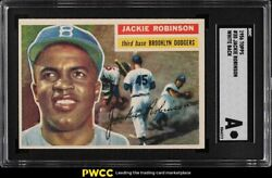 1956 Topps Jackie Robinson White Back 30 Sgc Auth
