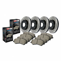Stoptech Front And Rear Brake Rotor And Front/rear Brake Pads Sold As Kit
