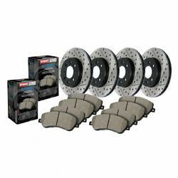 Stoptech Front And Rear Brake Rotor And Front/rear Brake Pads Street, Sold As Kit