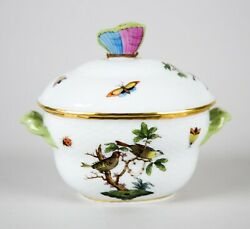 Herend Rothschild Bird Small Candy Box And Lid 6018 Vintage Porcelain Hungary