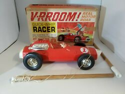 Vintage Mattel Vrroom Guide Whip Racer Red 1963 Toy In Box Used