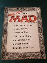 Mad Magazine No 24 July 1955 First 1st Magazine Edition Beauty Fn-
