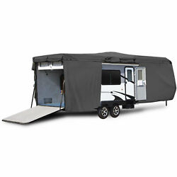 Travel Trailer Toy Hauler Storage Cover With Ramp Door Access - Length 33and039 - 35and039