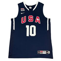 Nike Kobe Bryant Jersey 2010 Team Usa Authentic Embroidered/sewn Sz L/xl