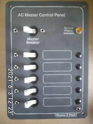 Weems And Plath Ac Master Control Panel + 5 Branch Circuit Breakers
