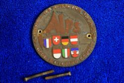Vintage Brass Alps Alpine Motoring Contest Grille Badge Plate Topper Accessory