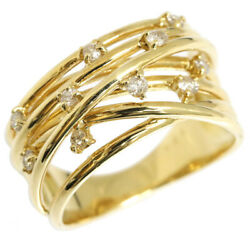 Diamond Ring D0.20ct K18yg 11.5 No. Accessories Ladies Recycling Reuse Je