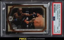2018 Topps Ufc Museum Collection Copper Israel Adesanya Rookie Rc /159 42 Psa 8