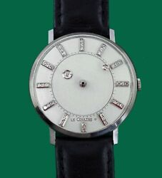 Vintage 1940s Mystery Diamond Dial Le Coultre Vacheron 14k Galaxy Menand039s Watch