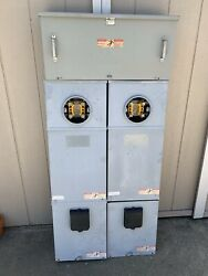 Set Meter Main Electrical Panels With 200 Amp Pull Outs And Junction Box