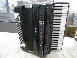 Vintage Bell Duovox Accordian Italy W/ Case Amp Plug Pedal Brev.n 614a/77