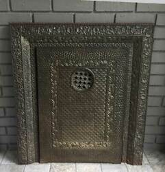 Antique Iron Fireplace Cover /surround Ornate Detailed Design