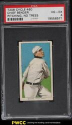 1909-11 T206 Chief Bender Pitching No Trees Cycle 460 Psa 4 Vgex