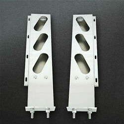 Bozz Ss Mud Flap Hanger Rear Bar With Oval Light Cutouts Spring Loaded