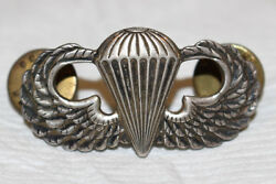 Wwii Airborne Paratrooper Jump Wings Insignia Unknown Pattern Sterling