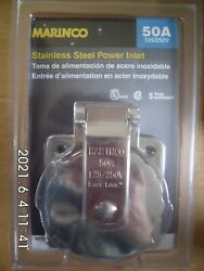 Marinco Stainless Steel Shore Power Inlet 50a 125/250v 6373el