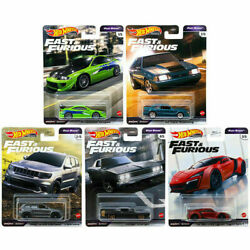 In Stock 5 Car Set Fast And Furious Fast Stars Hot Wheels Case L