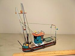 O-scale Diy Hand Painted Lobster Boat Model Train Layout