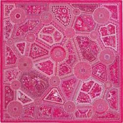 Hermes Shawl Stole Scarf Les Chemins Swc Rose Pink Silk 100 Woman New 140 Cm