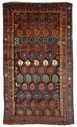 Handmade Antique Oriental Rug 3.10and039 X 5.9and039 120cm X 179cm 1880s - 1b418